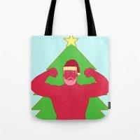 santa Tote Bags featuring Santa by Mavekk