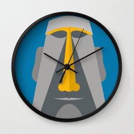 Grey Tiki Wall Clock