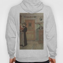 Carl Larsson - Between Christmas and New Year (From a Home watercolor series) Hoody