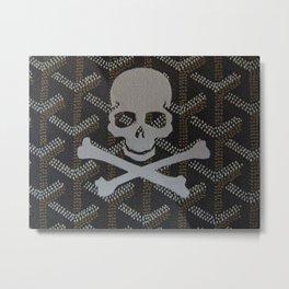Goyard Skull Metal Print