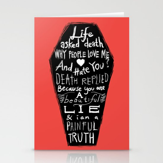 Life asked death... Stationery Cards