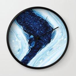 Blue Amethyst Crystal Wall Clock