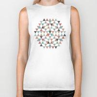 hexagon Biker Tanks featuring Hexagon by Pavel Saksin
