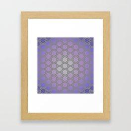 Hexagonal Dreams - Purple Blue Gradient Framed Art Print