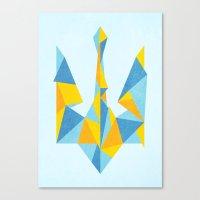 ukraine Canvas Prints featuring Ukraine Geometry by Sitchko Igor