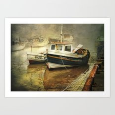 Misty Harbour Art Print