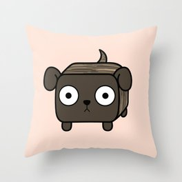 Pitbull Loaf- Brindle Pit Bull with Floppy Ears Throw Pillow