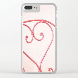 16. Pink Heart, Bretagne, France Clear iPhone Case