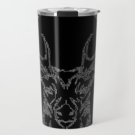 Stags head in one continuous line Travel Mug