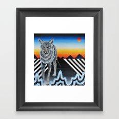 Geometric Coyote Framed Art Print