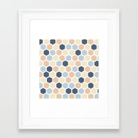 honeycomb Framed Art Prints featuring Honeycomb by 603 Creative Studio
