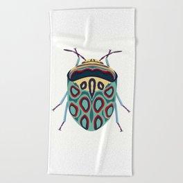 Blue Beetle Beach Towel