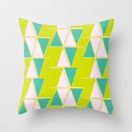 Mod Triangles Throw Pillow