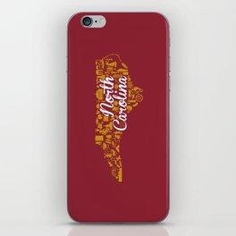 Elon University North Carolina State - Maroon and Gold University Design iPhone Skin