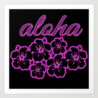 aloha Art Prints featuring ALoha  by Lonica Photography & Poly Designs