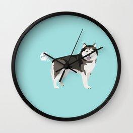 Alaskan Malamute funny fart dog breed gifts Wall Clock