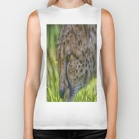 cheetah Biker Tanks featuring Cheetah by Darren Wilkes Fine Art Images