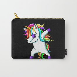 Funny Cute Rainbow Dabbing Unicorn Carry-All Pouch