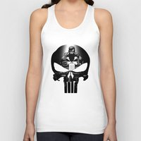 punisher Tank Tops featuring The Punisher by dTydlacka