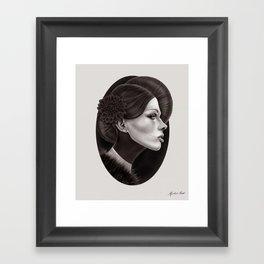 """The Black Dahlia"" Framed Art Print"