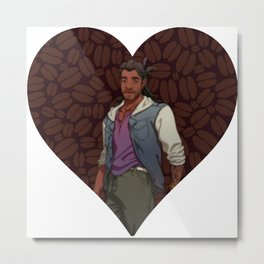 Dream Daddy: Mat Sella Metal Print