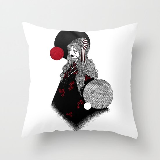 False Innocence Throw Pillow