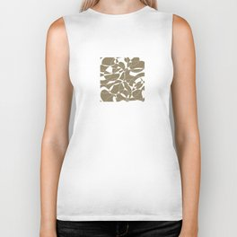 Abstract lines on the sand Biker Tank