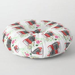 Retro red accordion Floor Pillow