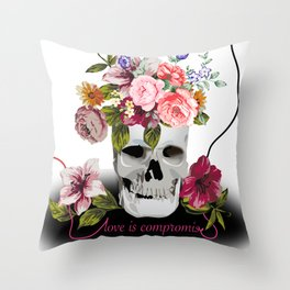 Love is compromise Throw Pillow