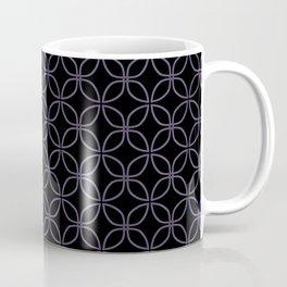 MAUDE subtle mauve geometric pattern on black Coffee Mug