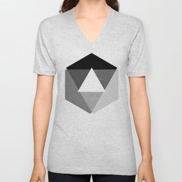 Grey Scale Print, design by Christy Nyboer Unisex V-Neck