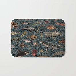 Sea & Ocean Life Maritime Pattern Bath Mat
