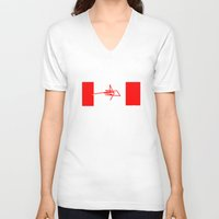 canada V-neck T-shirts featuring Canada by StazKnak