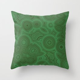 Green Agate Throw Pillow