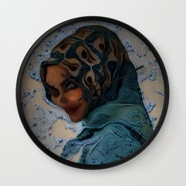 Hijabi Deepdream Wall Clock