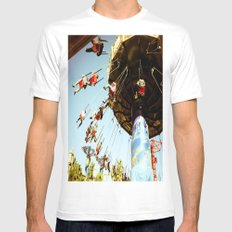 In Motion MEDIUM White Mens Fitted Tee