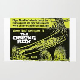 The Oblong Box, vintage horror movie poster Rug