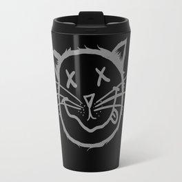 cat cartoon face Travel Mug