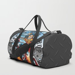 Custom Speed Shop Hot Rods and Muscle Cars Illustration Duffle Bag