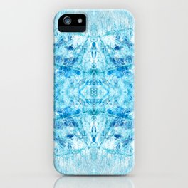 Crystal Stone - In Teal Aqua & Blue iPhone Case