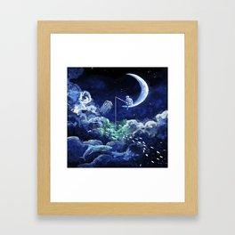 The Doctor Dreaming Of Fishing Framed Art Print