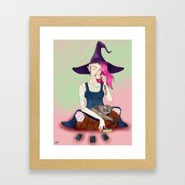 Cassandra and Silver Mist Framed Art Print