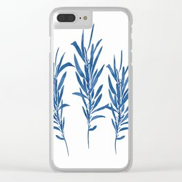 Eucalyptus Branches Blue Clear iPhone Case