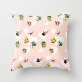 BnHA Café Throw Pillow