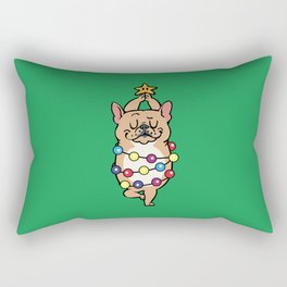 French Bulldog Merry Christmas Rectangular Pillow