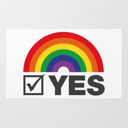 Vote Yes! - Rainbow Tick Rug