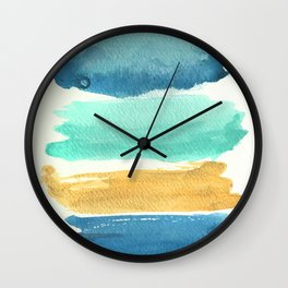 Late Summer Palette Wall Clock