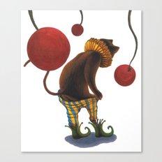 DEPRESSED CAT Canvas Print
