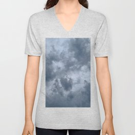 Fifty Shades of Grey Clouds | Nature Photography Unisex V-Neck