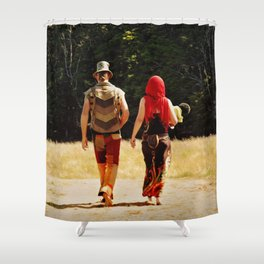 Fun Festival Folk Shower Curtain